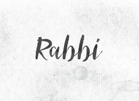 92392082-the-word-rabbi-concept-and-theme-painted-in-black-ink-on-a-watercolor-wash-background-