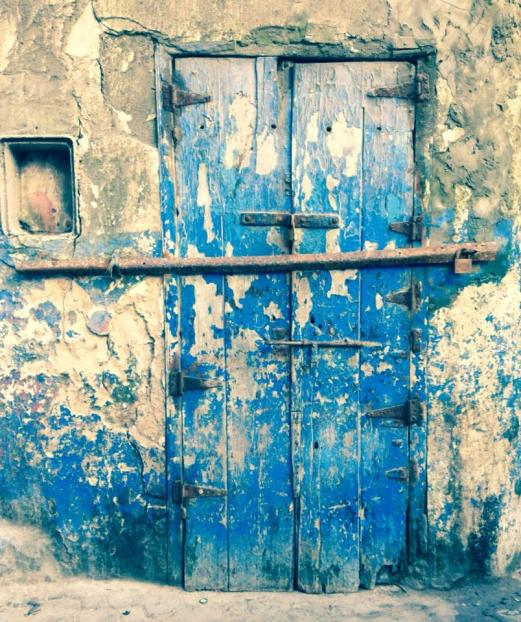 blue door, Essaouira, Morocco
