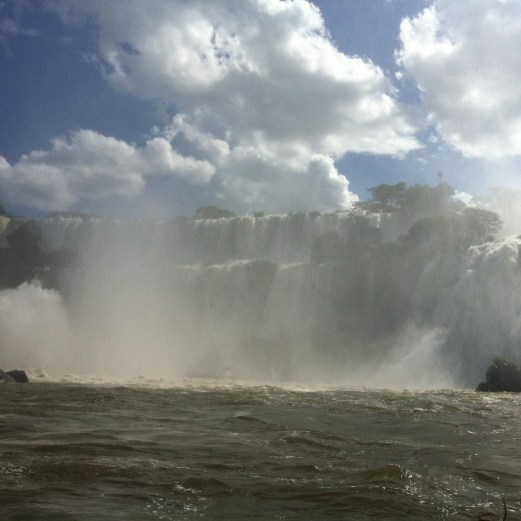 Iguazu in boat approaching