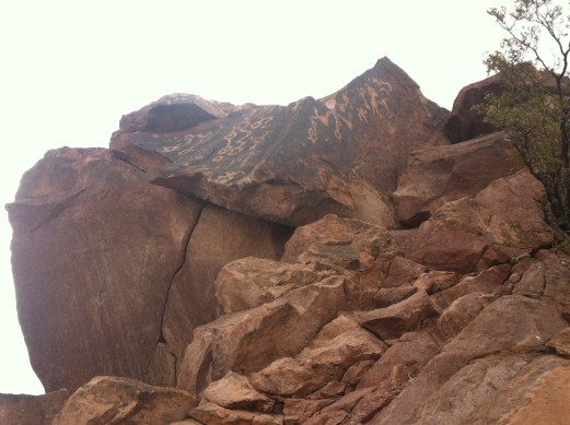 Petroglyphs from underneath
