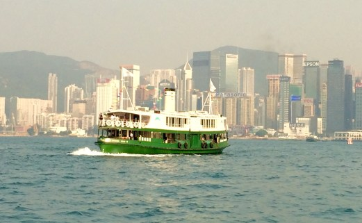 Star ferry crossing bay