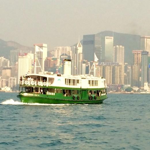 Star ferry crossing bay