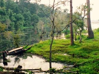 Angkor park lagoon
