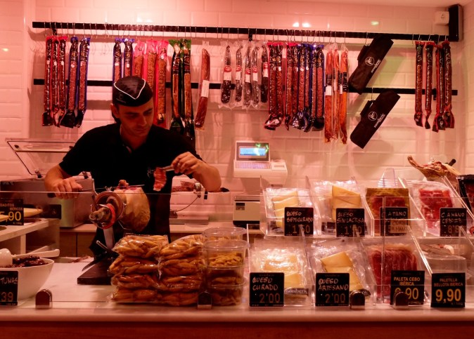 Ibiza ham and cheese shop