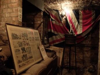 Stafford hotel wine cellar