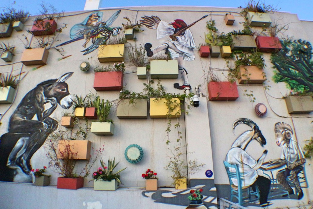 Coco-mat rooftop mural