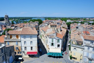 Arles view from Arena