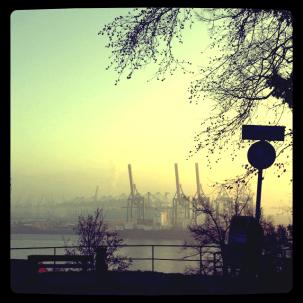 Blick auf die Elbe Höhe Othmarschen