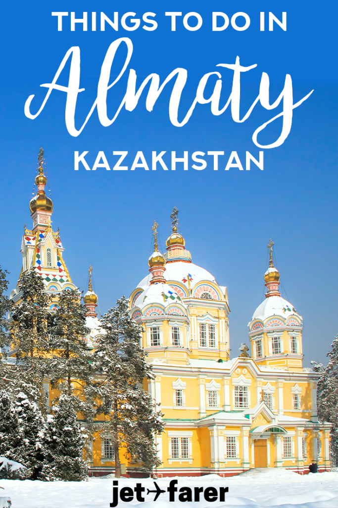 I recently visited Almaty, the largest city in Kazakhstan, and I was blown away by how beautiful it was. It's a place I think everyone should visit once in their life. There's amazing architecture, friendly people, and amazing activities to enjoy. To help you plan a trip, I put together my favorite things to do in Almaty, complete with general travel tips for the area and the best Almaty pictures I could find. Take a look! #Asia #Travel #TravelTips