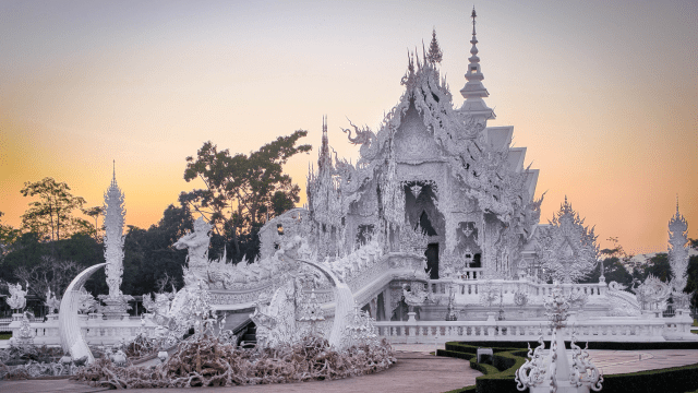 Chiang Rai temple. The best places to visit in Southeast Asia