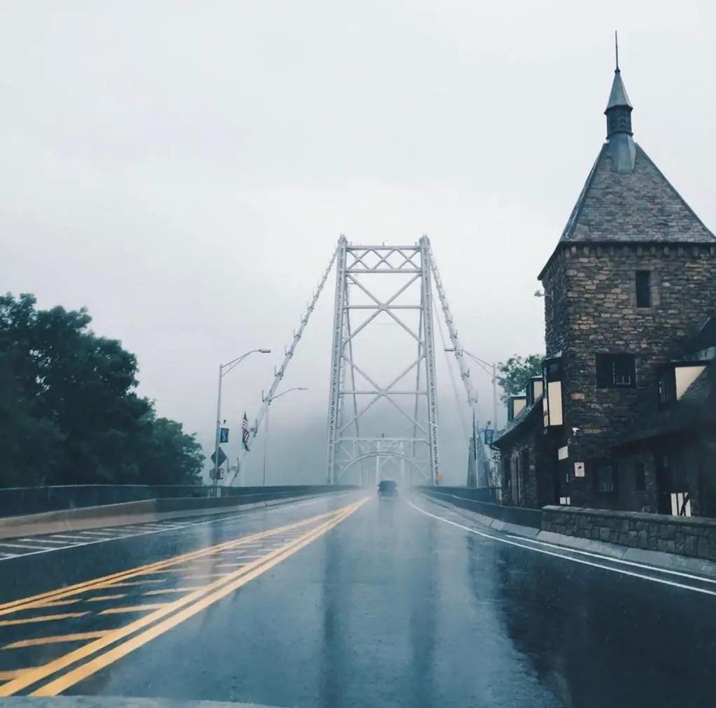 Rainstorm on Bear Mountain Bridge
