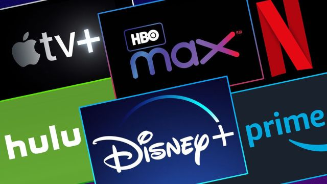 Brands images of streaming services to show different ways to host a movie night in your backyard.