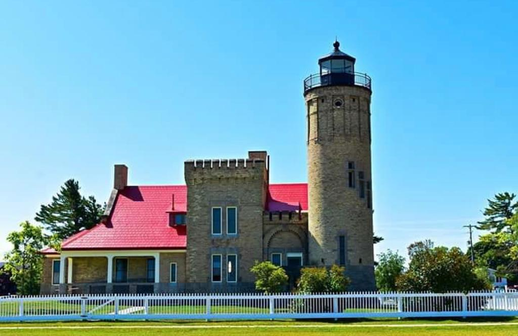 Old Mackinac Point Lighthouse. Road trip stop on a midwest road trip.