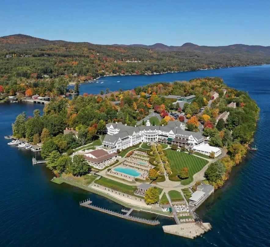 Sagmore Resort on Lake George, New York. Island, Best road trip USA stops