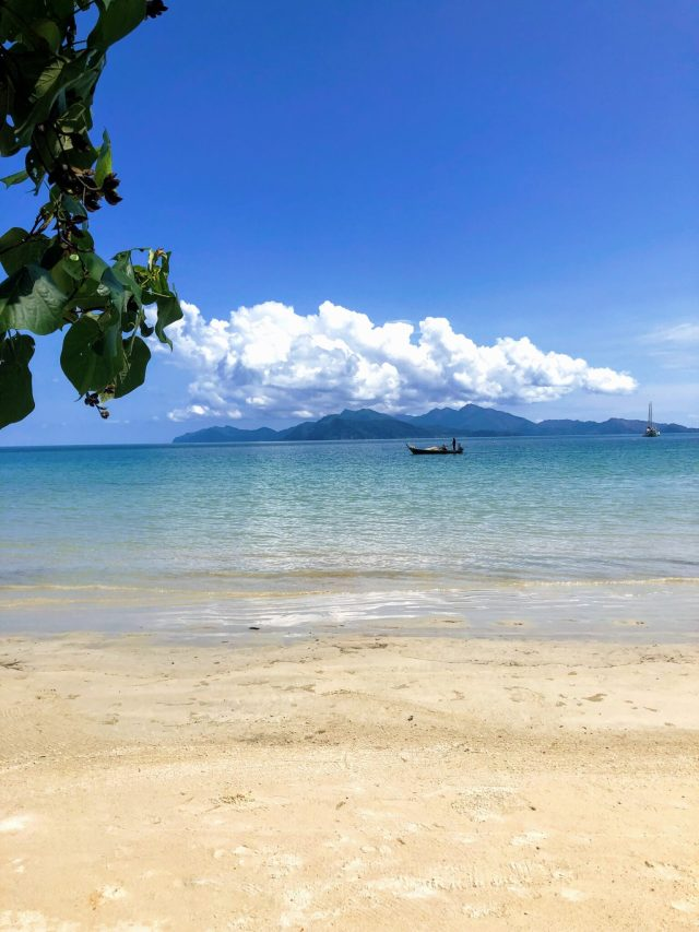 White sand beach which is one of the safest places to travel to after Coronavirus