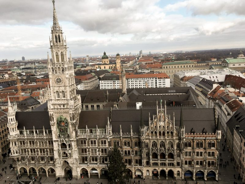 Picture of the New Town Hall in Munich taken from St. Peter's Church Tower