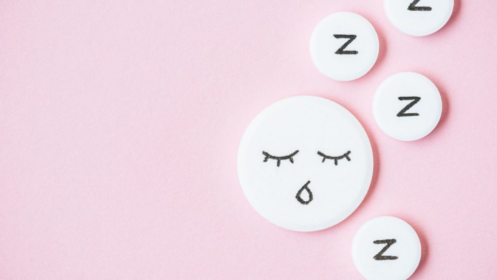 picture of circles with zzz's or a drawn face sleeping