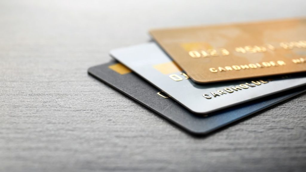 picture of credit cards on a table
