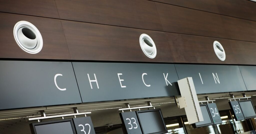 picture of the check in gate