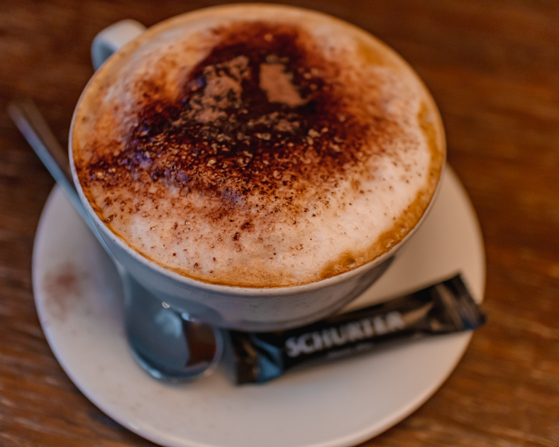 Picture of a latte from Cafe Schurter