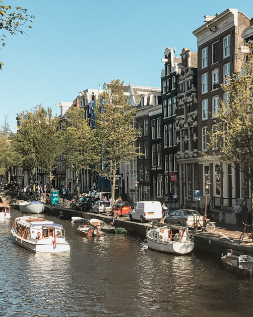 Picture of the canals in Amsterdam