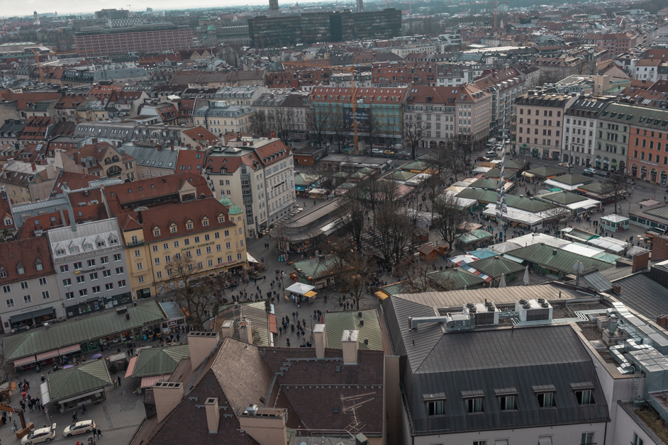 Sky view of Viktualienmarkt one of the things to see during your 24 hours in Munich visit.