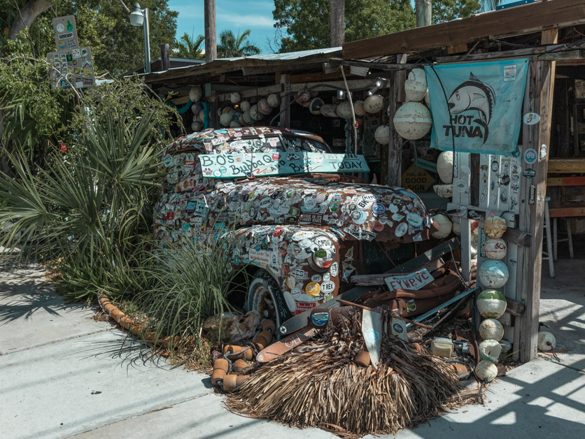Outside of B.O.'S Fish Wagon.