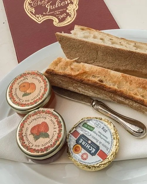Picture of bread and marmalade in Paris