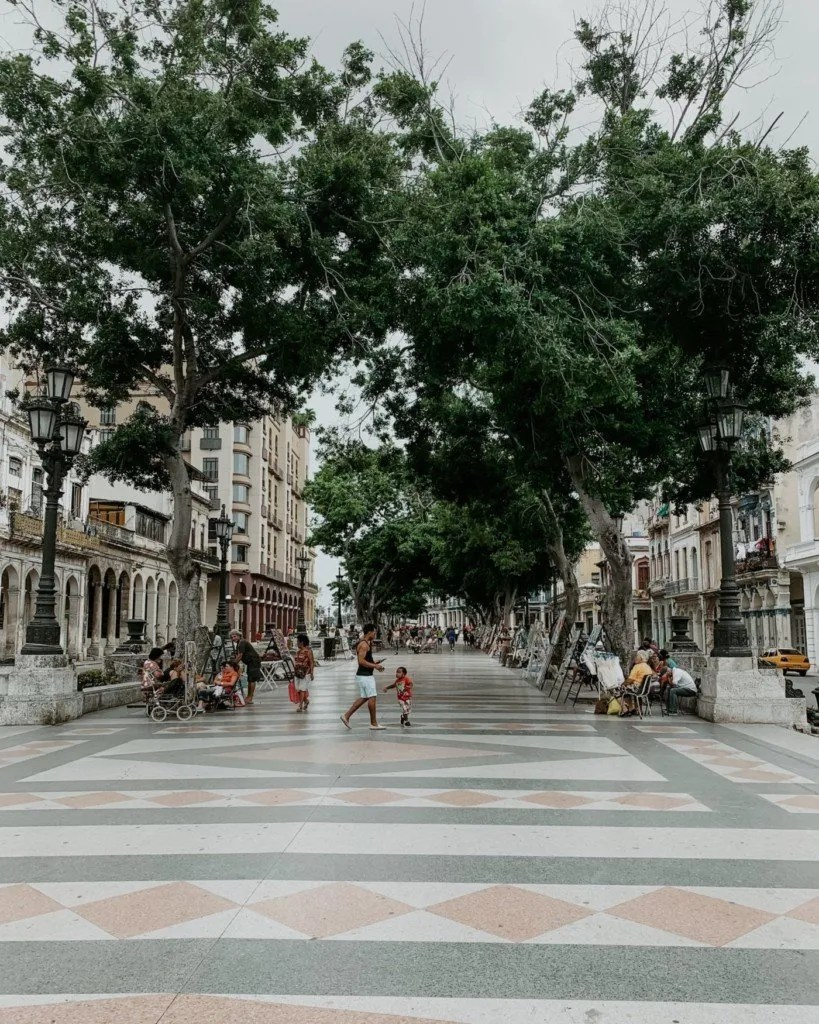 one of the streets in Old Havana