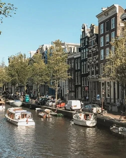 Picture of the canals in Amsterdam one of the top solo female travel destinations