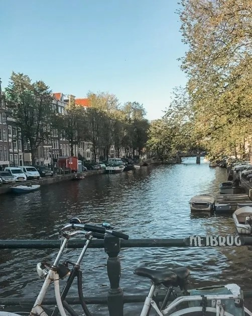 Picture of one of the canals a top thing to see during a layover in Amsterdam