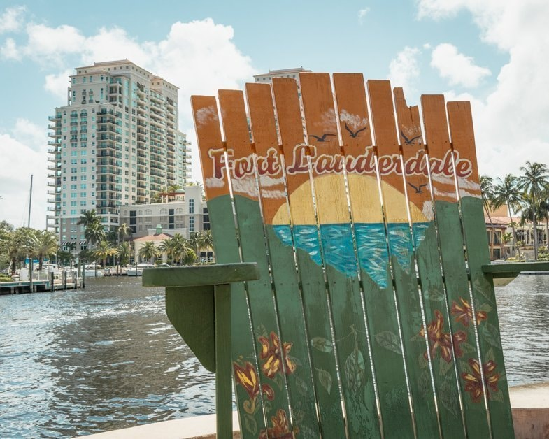 famous oversized chairs on Fort Lauderdale near the Riverfront