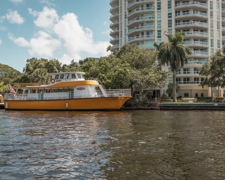 Water taxis on the canal in Fort Lauderdale
