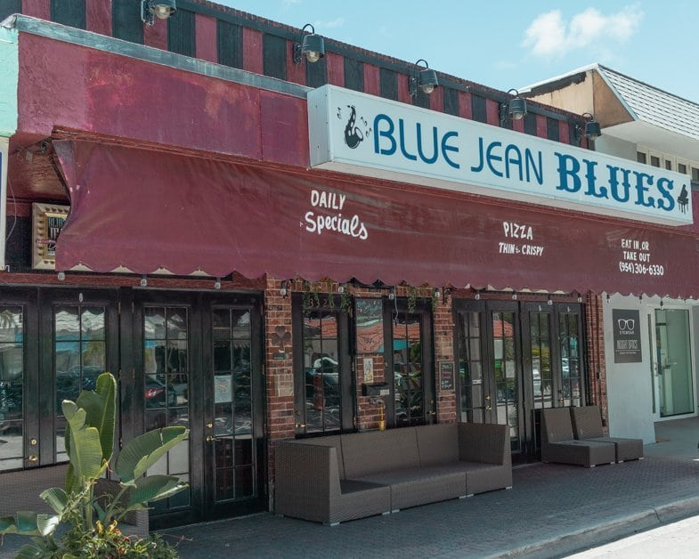 Picture outside of Blue Jean Blues one of the must-see things to do in Fort Lauderdale