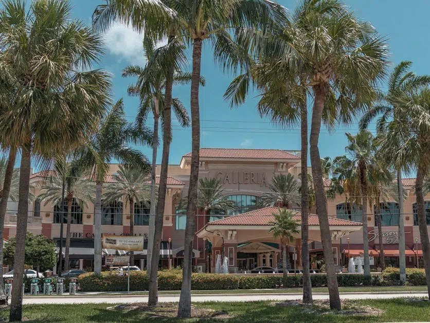 Outside of the Galleria Mall in Fort Lauderdale