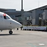 SWISS farewell to his last Avro RJ100
