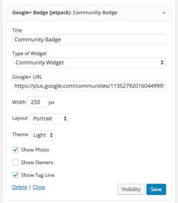 Community-widget
