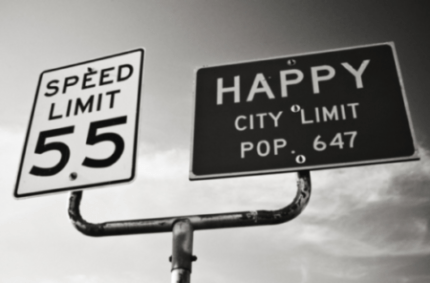 Speed limit and Happy city limit photo