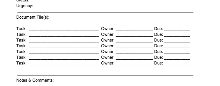 Firm Name Process Sheet