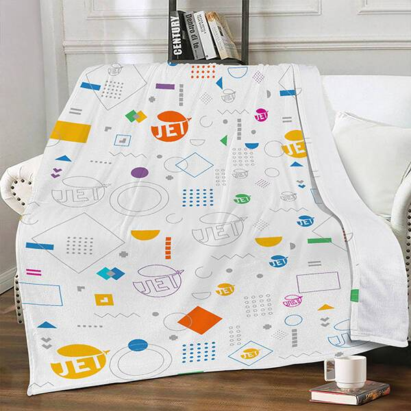 AOP Dual-sided Stitched Fleece Blanket