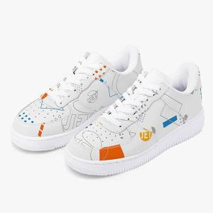Print On Demand AOP Leather Sports Sneakers