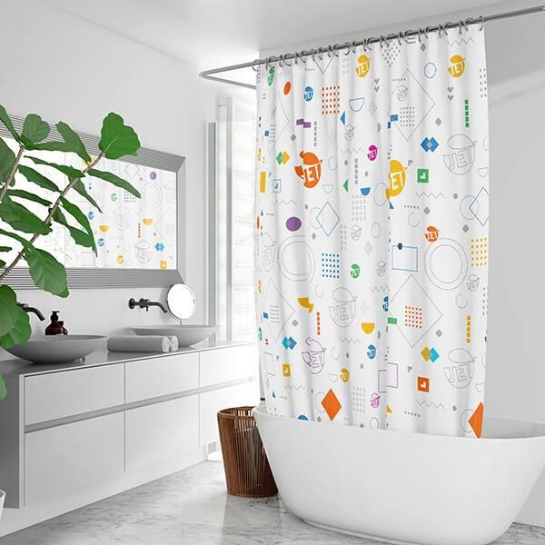 AOP Waterproof Shower Curtain