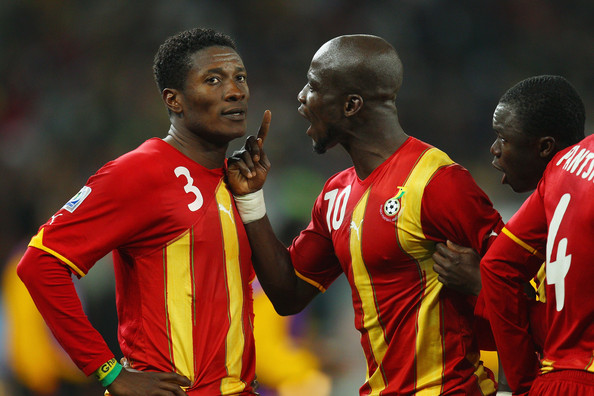 Asamoah Gyan and Stephen Appiah