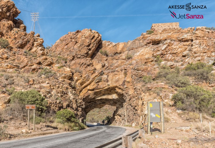 A road tunnel with an old British fort from the Boer War between Montagu and Ashton in the Western Cape Province