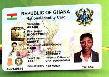 Ghana Card Sample