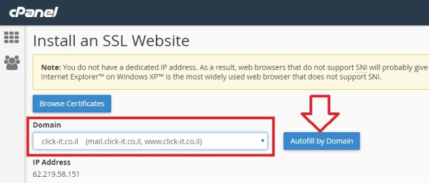 Installation the Free Self Signed SSL