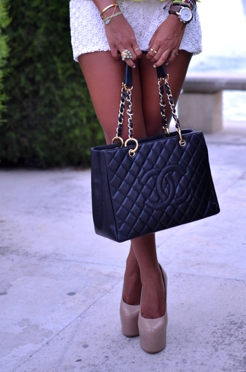 Jetset Babes with their classical Chanel purse
