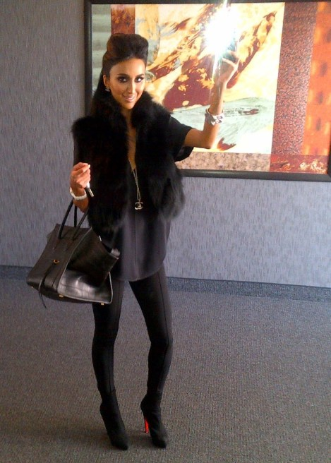 Jetset Babes in sophisticated black outfits