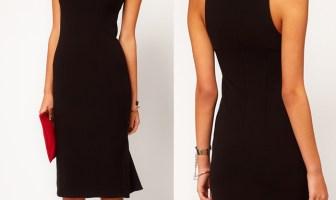 Asos Pencil Dress with frilled hem