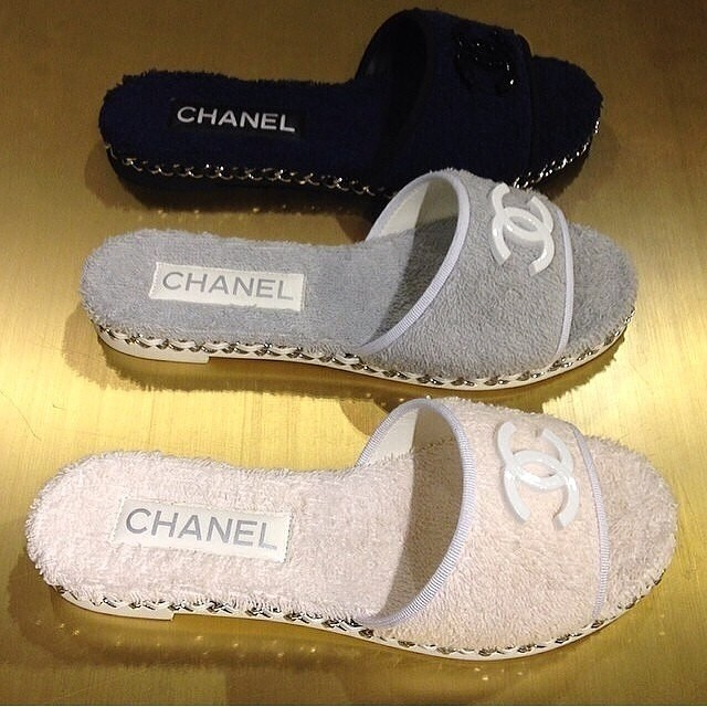 "Chanel ""towel"" Slippers"